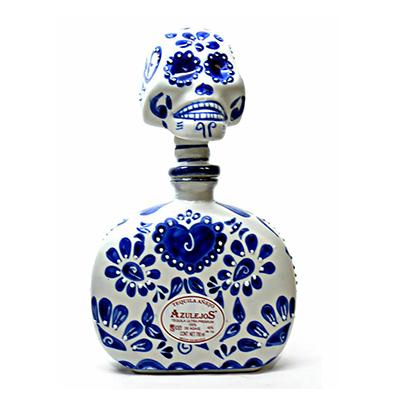 Los Azulejos Skelly Talavera Head Anejo Tequila