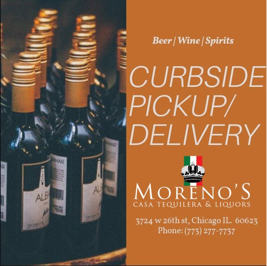 Moreno's Liquors now offers Curbside Pickup and Delivery